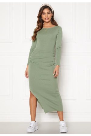 BUBBLEROOM Madina fine knitted dress Dusty green XS