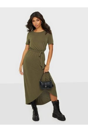 Object Objannie Nadia S/S Dress Noos Loose fit dresses Forest Night