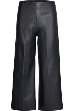 Saint Tropez Dowiesz Pants Leather Leggings/Byxor Svart