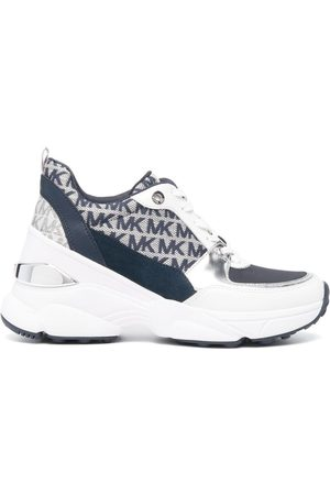 Michael Kors Monogram-print wedged trainers