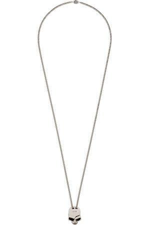 Alexander McQueen Silverfärgat halsband med dödskalle