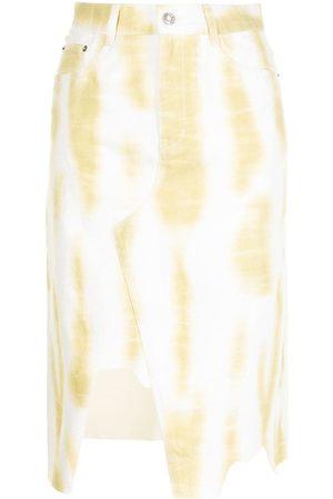 SJYP Kvinna Jeanskjolar - Batikfärgad jeanskjol