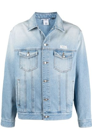 GCDS Man Jeansjackor - Jeansjacka med logotyp