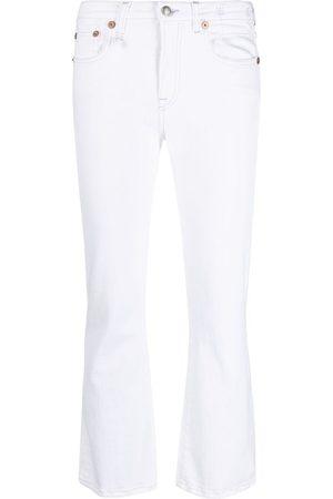 R13 Kvinna Bootcut - Croppade flare-jeans