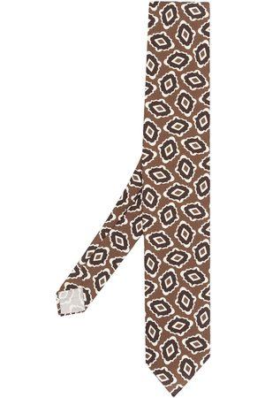 LARDINI Man Slipsar - Spetsig slips med abstrakt tryck