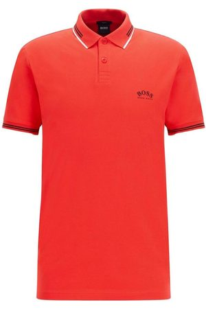 HUGO BOSS Man Pikétröjor - Polo pique elasticizzato logo curvo Mod. Paul Curved 50412675