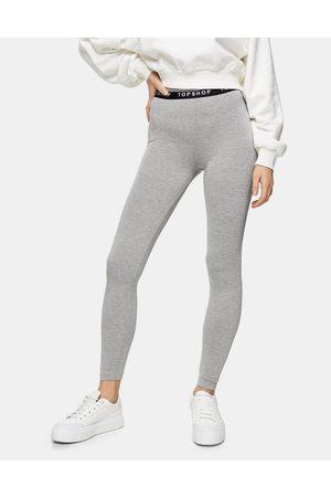 Topshop – Grå och svarta leggings, 2-pack-Flera färger