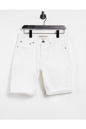 New Look – Vita jeansshorts med extra smal passform