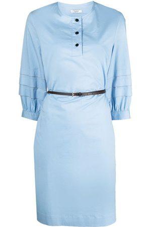 PESERICO SIGN Kvinna Midiklänningar - Pleated-sleeve midi dress