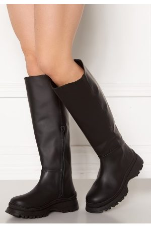 Selected Lucy Leather Boot Black 36
