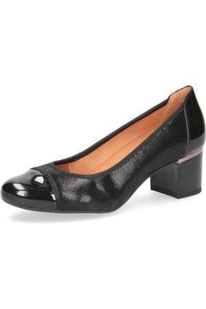 Caprice Elegant Low Heels Black