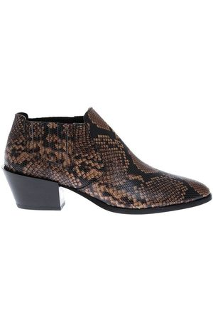 Tod's Low ankle boots with python print and beveled heel