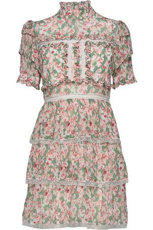 By Malina Kvinna Mönstrade klänningar - Harlow Dress Knälång Klänning Multi/mönstrad