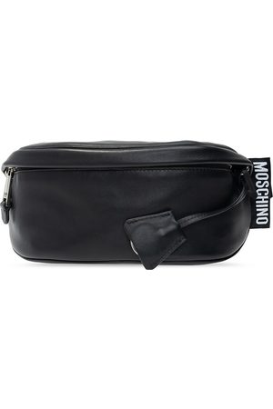 Moschino Leather belt bag with logo
