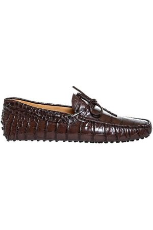 Tod's Croc print loafers