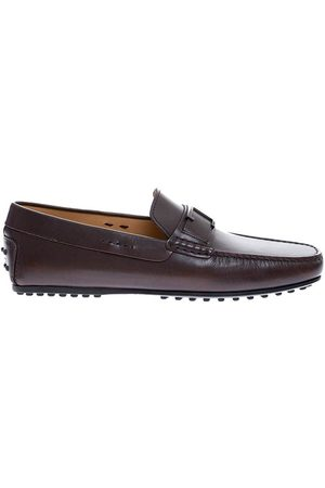 Tod's Loafers with placket + brushed steel T