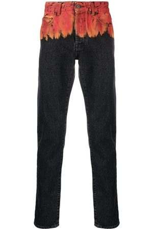 MARCELO BURLON Jeans med eldtryck