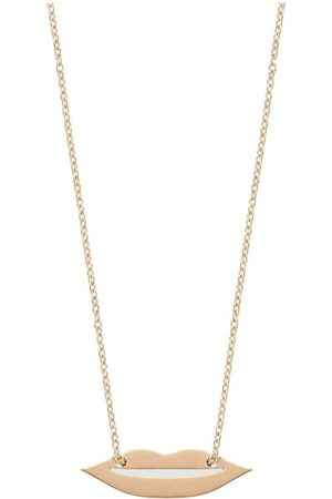 GINETTE NY Mini French Kiss chain and pendant necklace