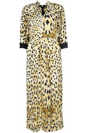 Prada Animal pattern long dress