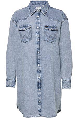 Wrangler Kvinna Sommarklänningar - Denim Western Dress Dresses Shirt Dresses