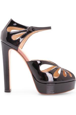 Francesco Russo Leather High Heel Sandals