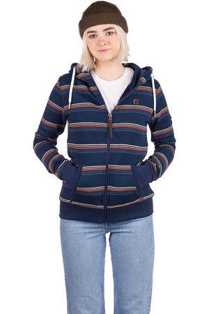 Kazane Sonia Zip Hoodie dress blue/stripe