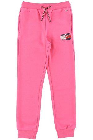 Tommy Hilfiger Flicka Joggingbyxor - Sweatpants - Flag Print - Exotic Pink