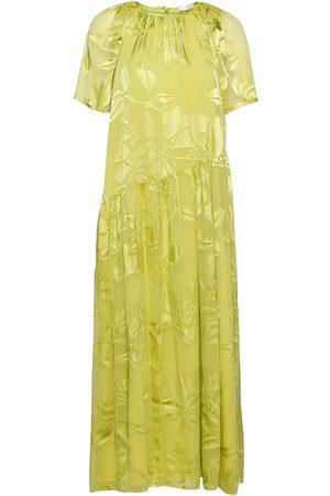 STINE GOYA Kvinna Klänningar - Addyson, 1107 Lemon Chiffon Dresses Evening Dresses