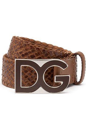 Dolce & Gabbana Vävt bälte med logotypplakett