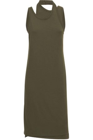 The Frankie Shop Double Asymmetric Layer Tank Midi Dress