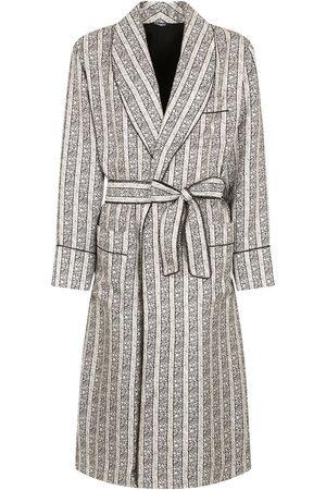 Dolce & Gabbana Randig morgonrock med bälte