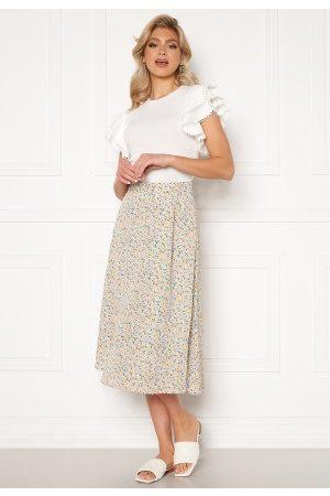 Y.A.S Kvinna Mönstrade kjolar - Kaydel Hw Long Skirt Cornflower Blue/ AOP L