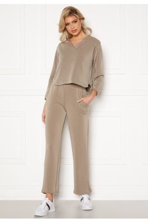 Pieces Lise HW Wide Pant Cinder S