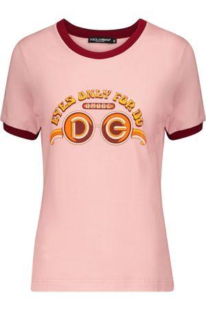 Dolce & Gabbana Kvinna Kortärmade - Logo cotton jersey T-shirt