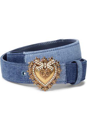 Dolce & Gabbana Devotion denim belt