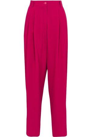 Dolce & Gabbana High-rise tapered stretch-crêpe pants