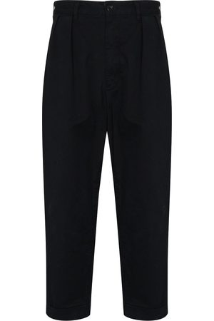 Beams Man Trekvartsbyxor - Dart-detailing cropped trousers