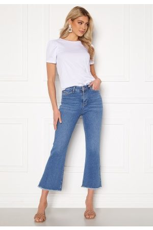 BUBBLEROOM Kyla kick flare stretch jeans Medium blue 36