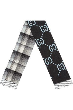 Gucci Scarf i ull med GG-logotyp