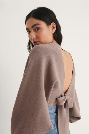 NA-KD Kvinna Boleros - Knot Detail Knitted Bolero