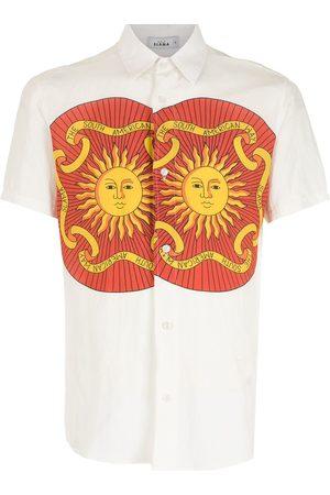 AMIR SLAMA Sol kortärmad skjorta med tryck