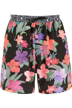 AMIR SLAMA Hibiscus shorts med tryck