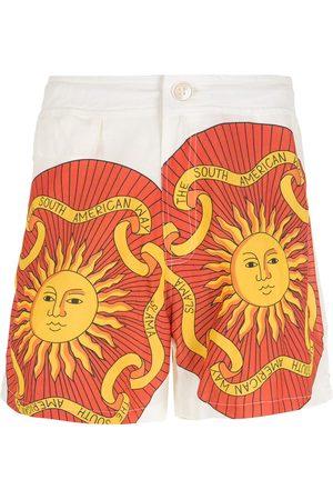 AMIR SLAMA Man Bermudashorts - Sol mönstrade shorts