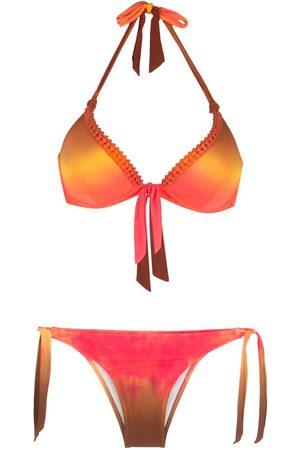 AMIR SLAMA Kvinna Bikinis - Batikfärgad bikini med rosett