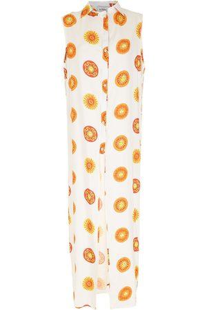 AMIR SLAMA Sol lång mönstrad strandklänning