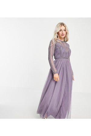 ASOS ASOS DESIGN Petite – maxiklänning med utsmyckat liv och tyllkjol