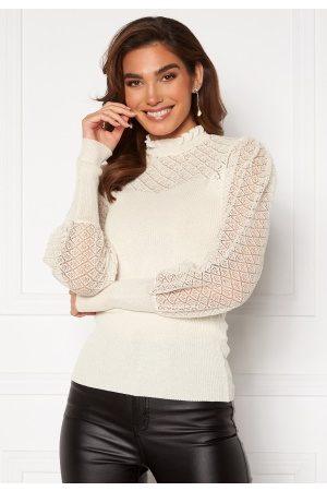 VILA Cafas L/S Knit Top Snow White M