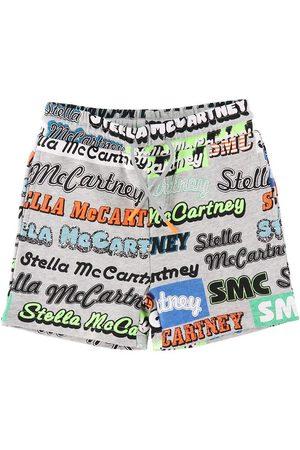 Stella McCartney Shorts - Logo Sport - Gråmelerad m. Stella