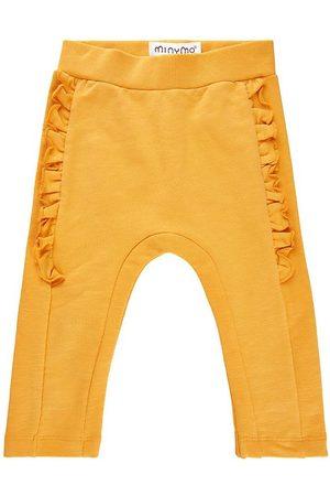 Minymo Flicka Joggingbyxor - Sweatpants - York Yellow m. Volanger