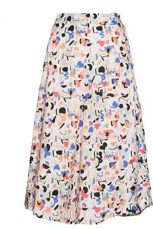 Papu Kvinna Mönstrade kjolar - Midi Circle Culottes Imagenation Knälång Kjol Multi/mönstrad